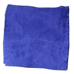Casual Wear Plain Solid Blue Chiffon Stoles