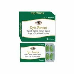 Eye Power Vitamin A Vitamin C Zinc Selenium Capsules, Packaging Size: 3 X 1 X 10, Packaging Type: Blister