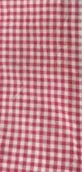 Uttar Pradesh Red Check Uniform Fabric