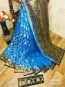 Nylon Silk Saree Peacock Rich Pallu