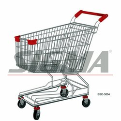 Stainless Steel Shopping Trolley 65L
