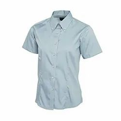 GRS Recycle Cotton Ladies Half Sleeve Shirts
