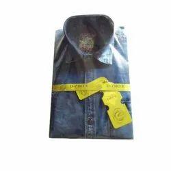 D-Ziree Plain Mens Denim Shirt