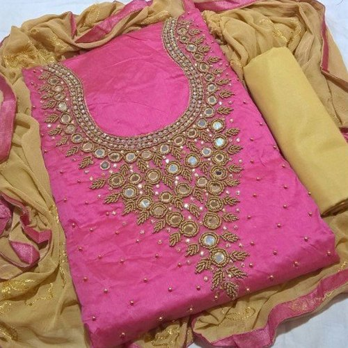 4e68be107f Sun Fancy Chanderi Suit Material, Rs 550 /piece, Sun Fashion And ...