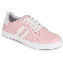 Women and Girls Synthetic Leather Casual Canvas Shoes, Size: 36-41