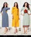 Textile Mall Presents Kalakari Color Br Vol-5 Rayon Kurti Catalog Collection