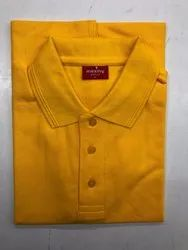 Men's Yellow Collar T-Shirt