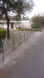 Plain Stairs Steel Railing, For Construction