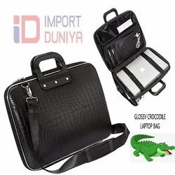 Crocodile Laptop Bag Glossy