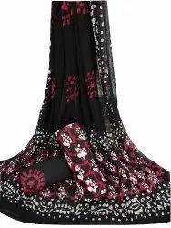 Cotton Suit Set With Chiffon Dupatta