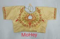 Heavy Satin Half Sleeves Fashion Blouse
