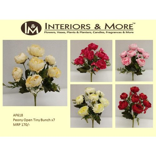 Interiors & More Red Peony Open Tiny Bunch Artificial Flower, For Decoration Purpose