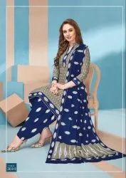 Multicolor Mayur Ikkat Cotton Suit Material