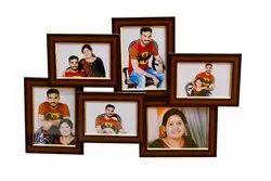 Plain bangalore Wooden Collage Frames, Photo Size: 4x6