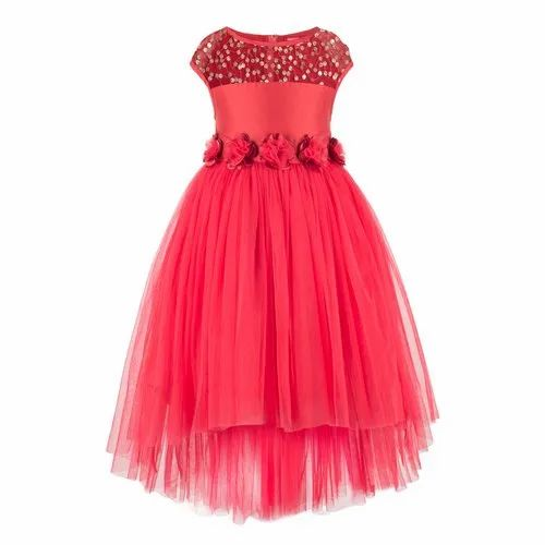 f730a619689 Red Sequence Embellished Tutu Girls Party Dress