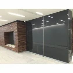 Grey Lacquered Glass, Thickness: 4-6 Mm