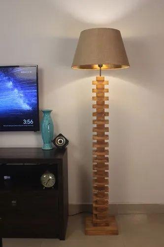Jenga Wooden Floor Lamp