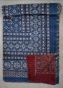 Kantha Quilt Handmade Ajarak Print Reversible Throw