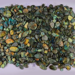 Natural Carved Labradorite Stone in Assortment For Jewellry Making