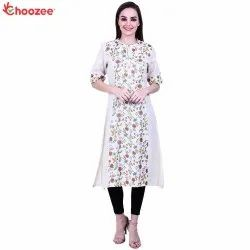 Glory Women Printed Kurta with Neck Embroidery