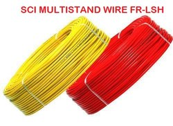 SCI FR-LSH PVC Insulated Copper Wire Of Size 1c x 0.75 Sqmm.