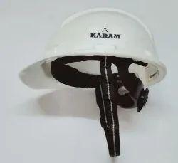 Safety Helmet Ratchet Strap White