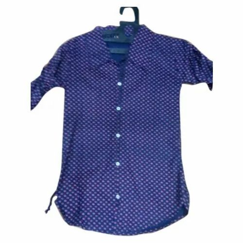 Cotton Party Wear Kids Printed Shirts, Packaging Type: Packet