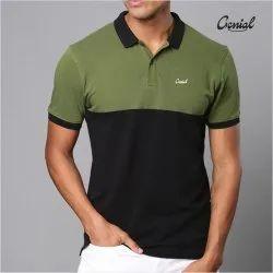 Cut & Sew Men's Collar T-shirt (PC Double Pique)