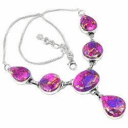 92.5 Purple Copper Turquoise Necklaces