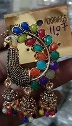 Fancy Peacock Earrings