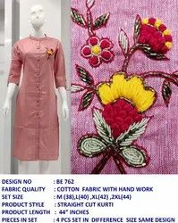Hand Work Cotton Kurti
