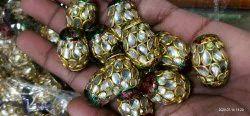 Polki Kundan Meena Beads