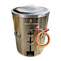 S Steel Gas And Charcoal Drum Tandoor