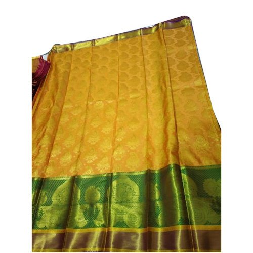 Printed Mysore Silk Saree, Machine Made, 5.5 m (separate blouse piece)