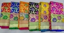 Banarasi Designer Sarees with Blouse Piece