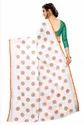 Printed Butta Pure Linen Cotton Saree