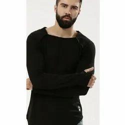 Fantastica Mens Black Full Sleeve T-Shirt