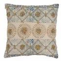 Embroidered Faded Print Design Cotton Cushion Cover