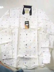 White Printed Shirts