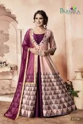 Exclusive Fancy Gown With Dupatta By Parvati Fabric