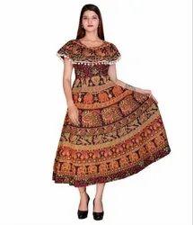 Ladies Jaipuri Printed Frocks