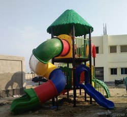 Multiplay Playground Spiral Slides