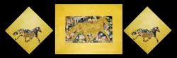 Wooden Modern Art Acrylic Painting for Home, Shape: Rectangular