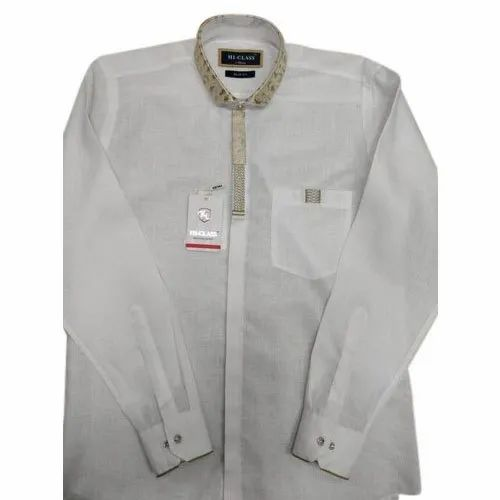 dcc793786 Mens Chinese Collar White Shirt