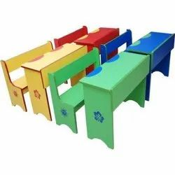 Wooden School Benches And Desks