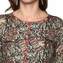 Yash Gallery Kalamkari Print Womens Cotton Anarkali Kurta