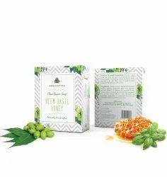 Aro Vatika Best Quality Neem Basil Honey Clear Sugar Soap, 100g