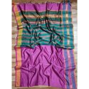 Casual Wear Chanderi Silk Cotton Handloom Saree, 6.5 M, With Blouse Piece