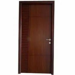 Brown Termite Proof Pine Wood Flush Door, For Office