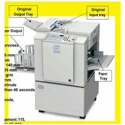Ricoh DX 2430 Duplicator, Print Speed: 60 - 90 Sheets Per Minute (2 Steps)